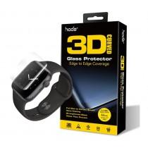 【HODA】44mm 3D曲面全透明滿版玻璃保護貼