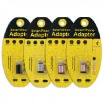 【轉接頭】金屬質感 MICRO USB轉 I PHONE 充電線/傳輸線轉接器